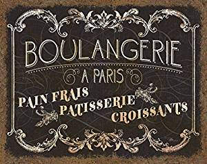 Gango Home Decor Parisian Sign French Boulangerie Croissants and Patisserie by Pel Studios; One 14x11in Paper Poster
