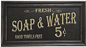 Vintage Bath Advertising Wall Art | Americana Collection | Bathroom Laundry Room Decor | 7 1/2 x 14 Inch